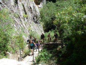ruta de las pasarelas del rio vero
